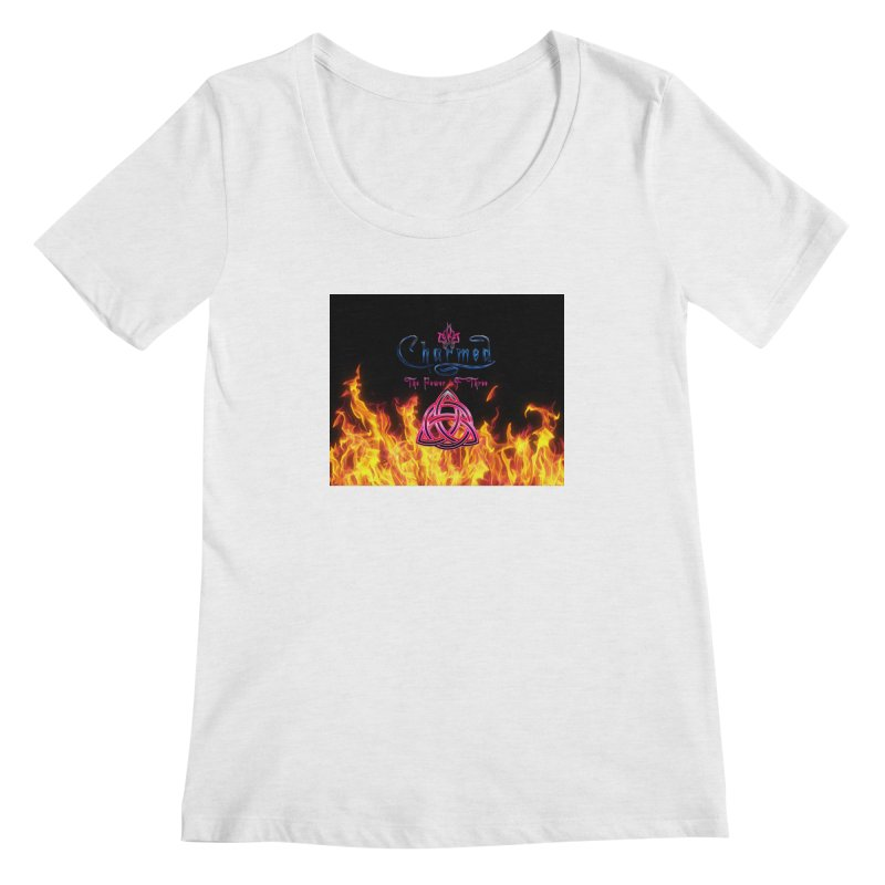 Charmed Holy Fire Triquetra Women's Scoopneck by ratherkool's Artist Shop