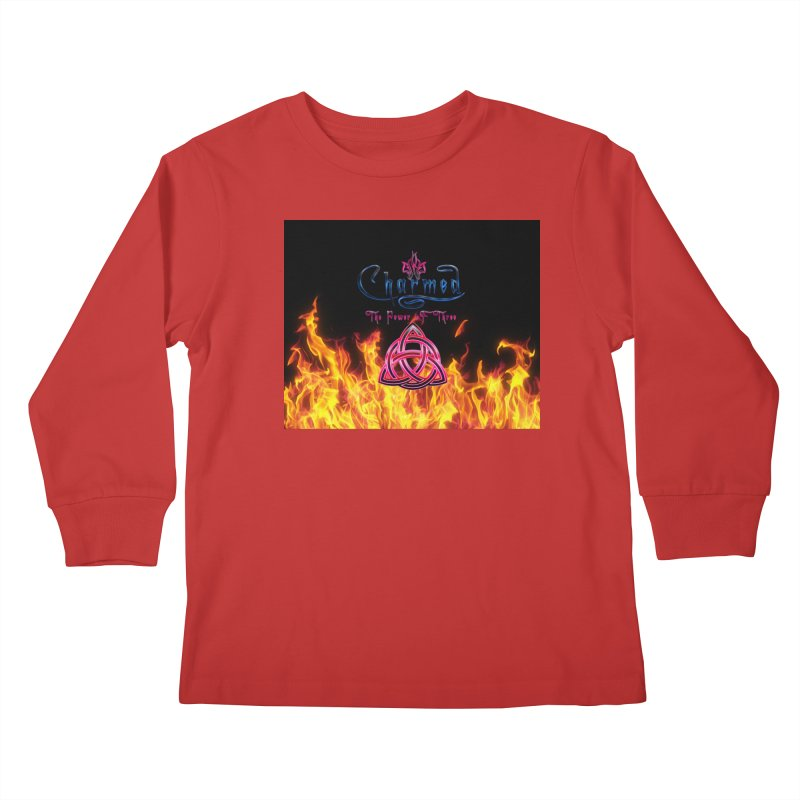 Charmed Holy Fire Triquetra Kids Longsleeve T-Shirt by ratherkool's Artist Shop