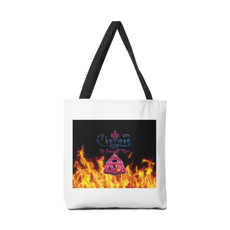 Charmed Holy Fire Triquetra Accessories Bag by ratherkool's Artist Shop