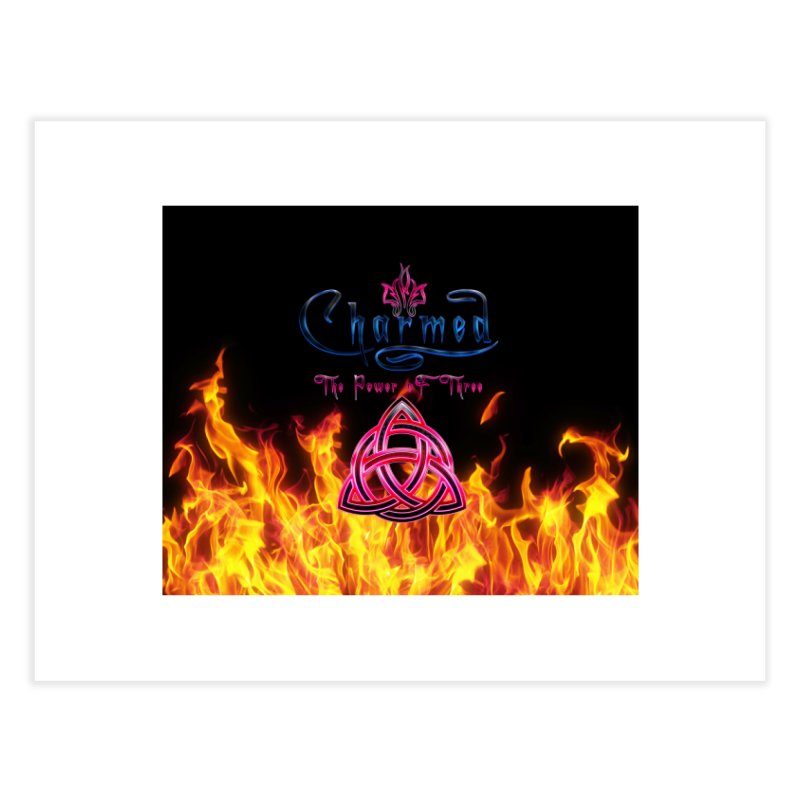 Charmed Holy Fire Triquetra Home Fine Art Print by ratherkool's Artist Shop
