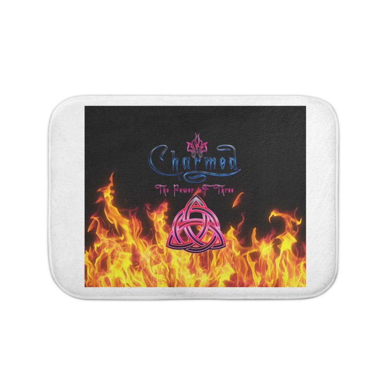 Charmed Holy Fire Triquetra Home Bath Mat by ratherkool's Artist Shop