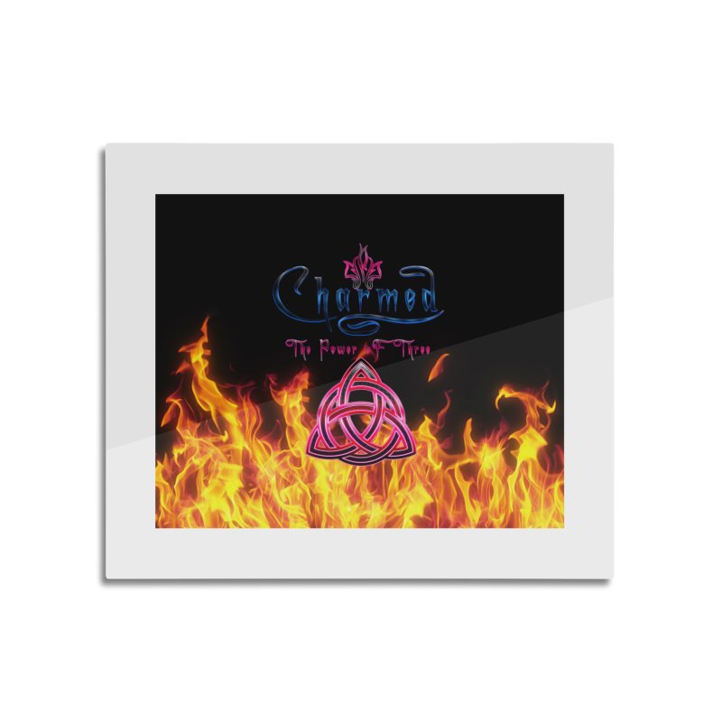 Charmed Holy Fire Triquetra Home Mounted Aluminum Print by ratherkool's Artist Shop