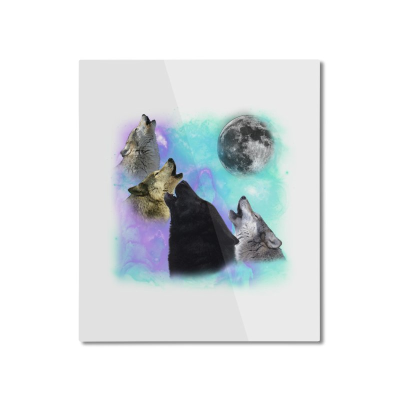 Wolves Coven Emeral night 2 CB Home Mounted Aluminum Print by ratherkool's Artist Shop