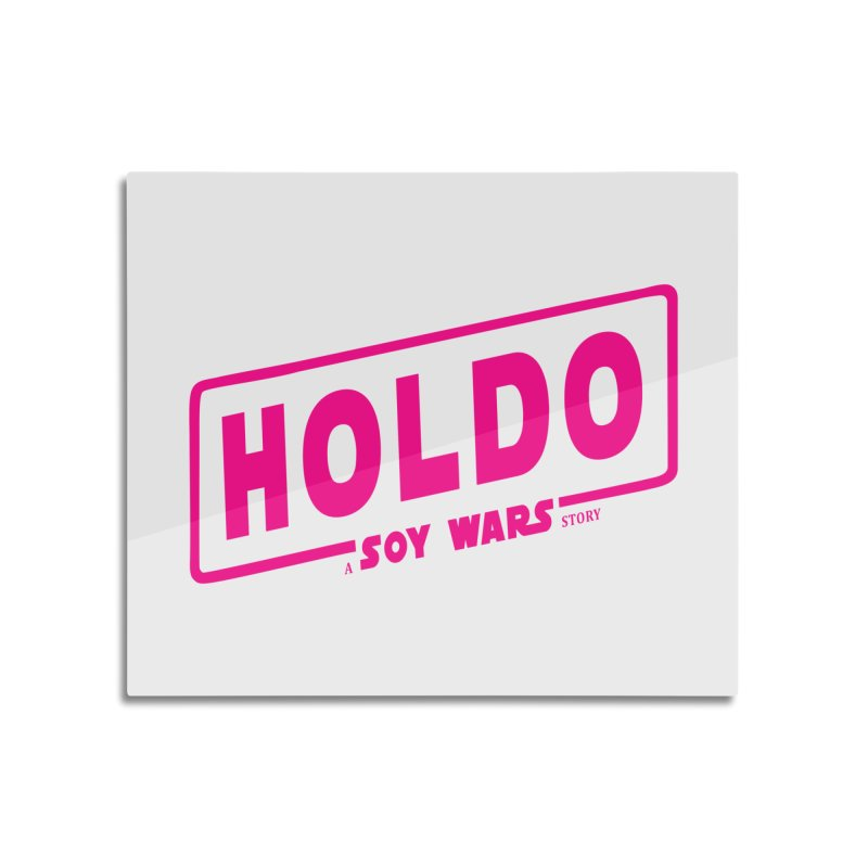 Holdo a SOY Wars Story Pink Home Mounted Aluminum Print by ratherkool's Artist Shop