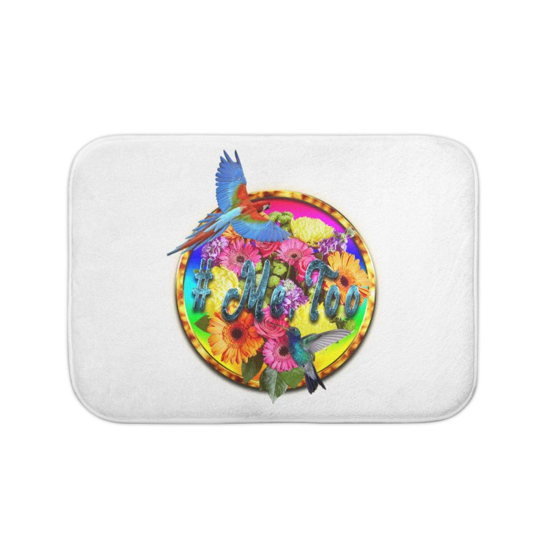 #Me Too Ring Floral Birds Home Bath Mat by ratherkool's Artist Shop