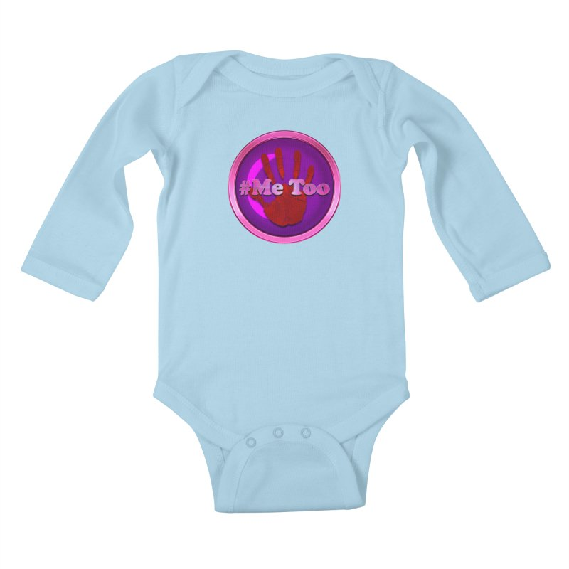 #Me too Hand Patch 2 Kids Baby Longsleeve Bodysuit by ratherkool's Artist Shop