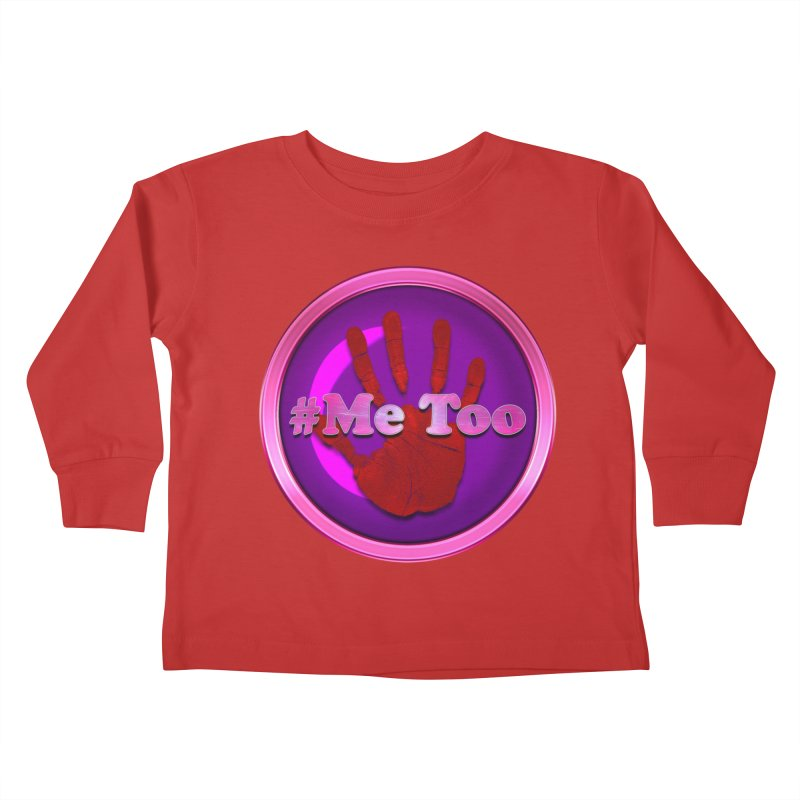 #Me too Hand Patch 2 Kids Toddler Longsleeve T-Shirt by ratherkool's Artist Shop