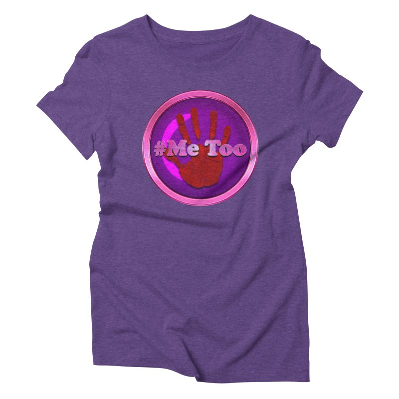 #Me too Hand Patch 2 Women's Triblend T-Shirt by ratherkool's Artist Shop