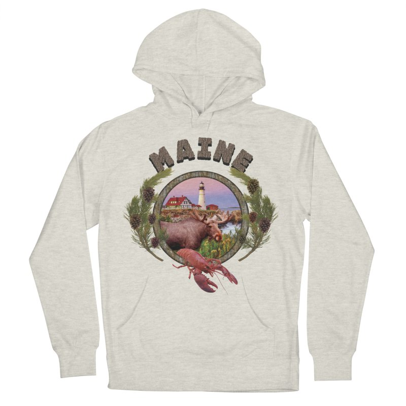 Maine Moose Women's Pullover Hoody by ratherkool's Artist Shop
