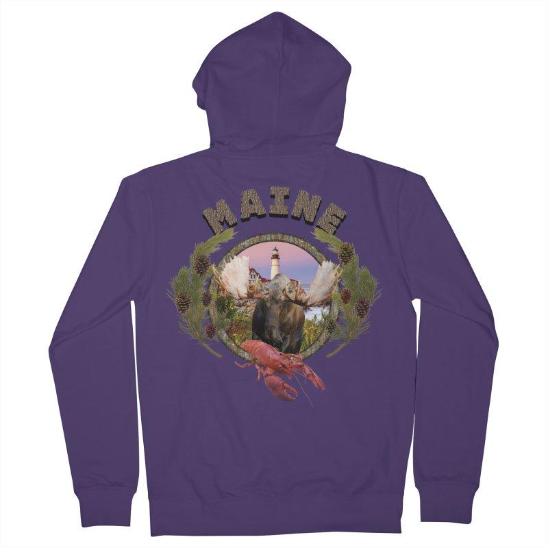 Maine Moose 2 Women's Zip-Up Hoody by ratherkool's Artist Shop