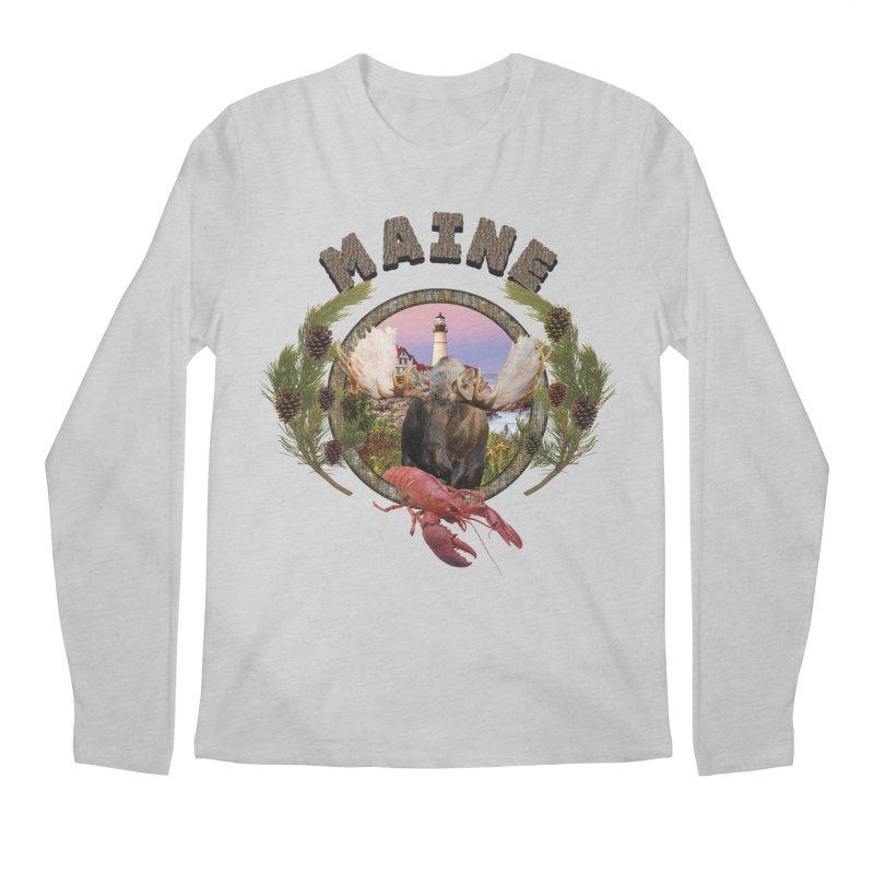 Maine Moose 2 Men's Longsleeve T-Shirt by ratherkool's Artist Shop