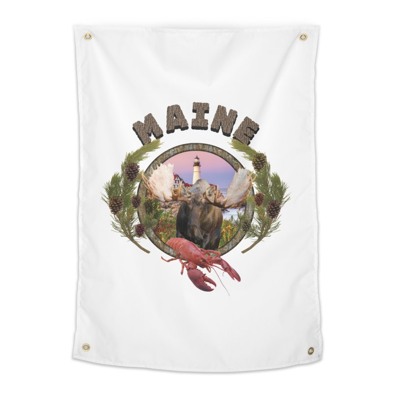 Maine Moose 2 Home Tapestry by ratherkool's Artist Shop