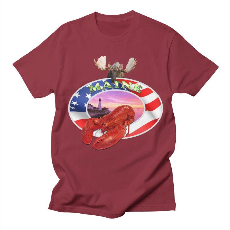 Maine Lobster Logo Men's T-Shirt by ratherkool's Artist Shop