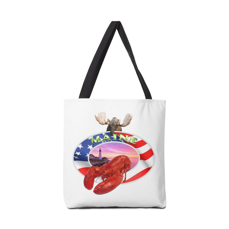 Maine Lobster Logo Accessories Bag by ratherkool's Artist Shop