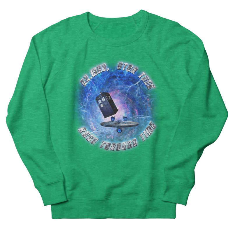 Dr Who Star Trek Race Through Time 2 Women's Sweatshirt by ratherkool's Artist Shop