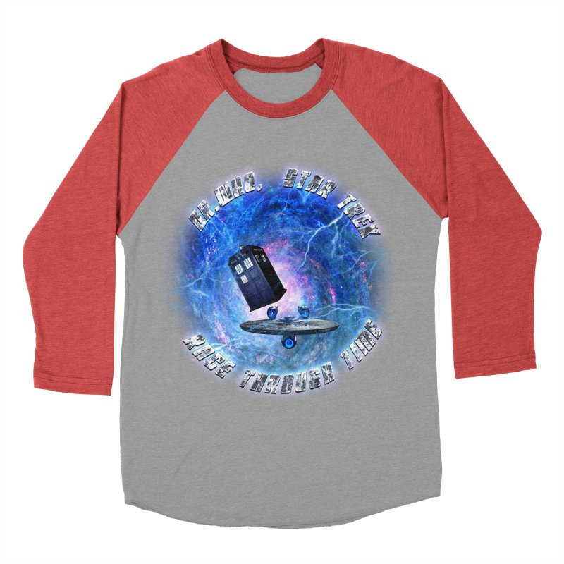 Dr Who Star Trek Race Through Time 2 Women's Baseball Triblend T-Shirt by ratherkool's Artist Shop