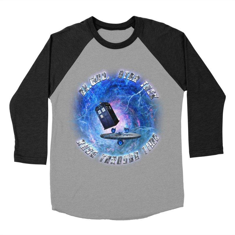Dr Who Star Trek Race Through Time 2 Men's Baseball Triblend T-Shirt by ratherkool's Artist Shop