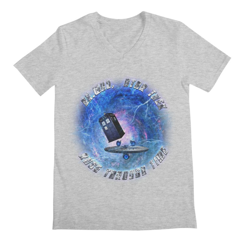 Dr Who Star Trek Race Through Time 2 Men's V-Neck by ratherkool's Artist Shop