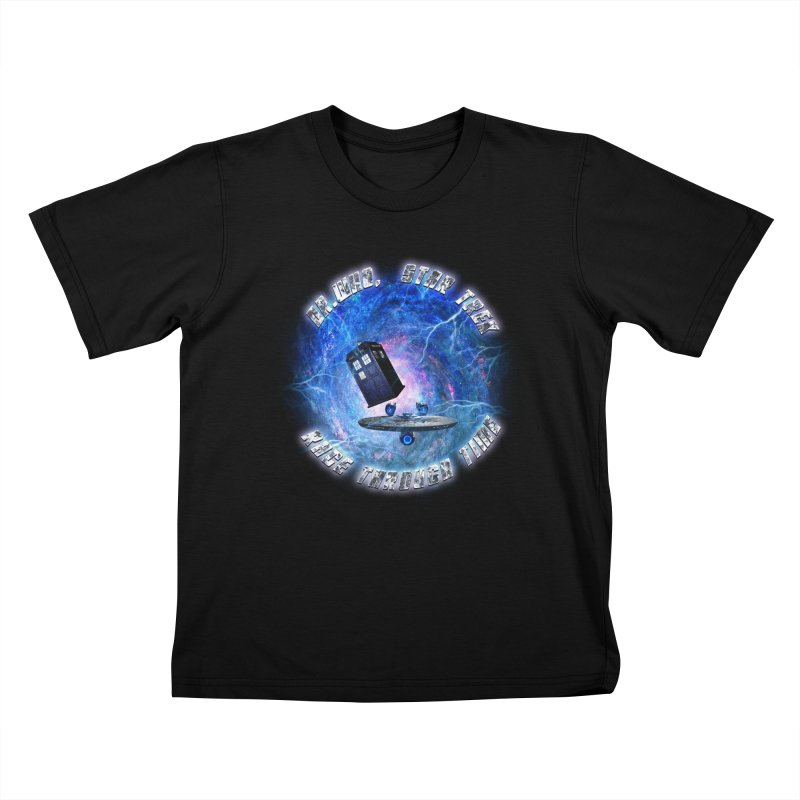 Dr Who Star Trek Race Through Time 2 Kids T-Shirt by ratherkool's Artist Shop