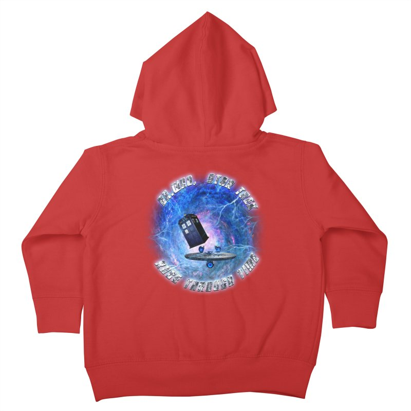 Dr Who Star Trek Race Through Time 2 Kids Toddler Zip-Up Hoody by ratherkool's Artist Shop