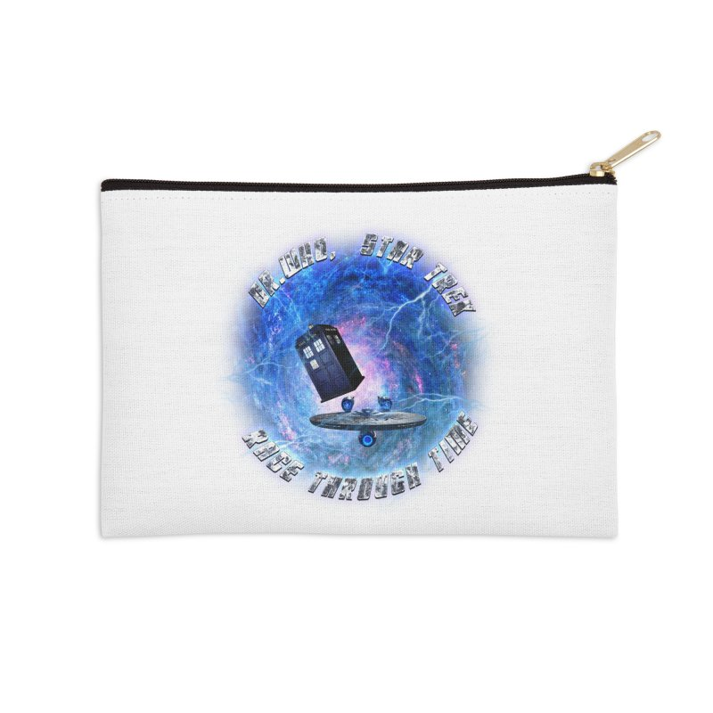 Dr Who Star Trek Race Through Time 2 Accessories Zip Pouch by ratherkool's Artist Shop