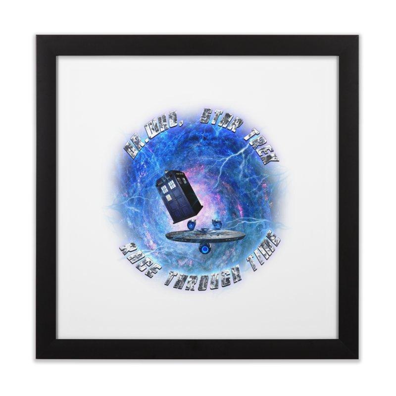 Dr Who Star Trek Race Through Time 2 Home Framed Fine Art Print by ratherkool's Artist Shop