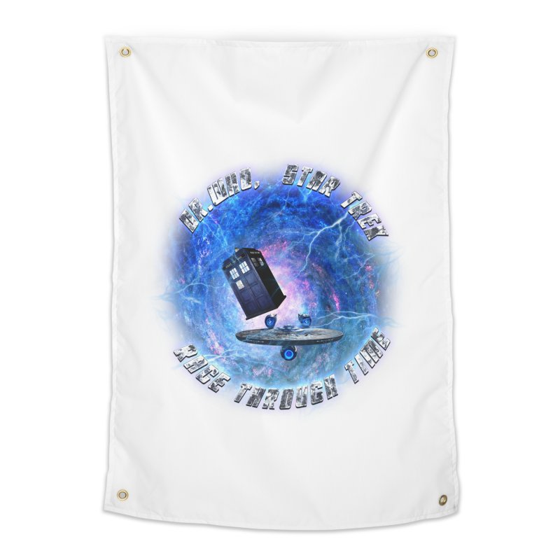 Dr Who Star Trek Race Through Time 2 Home Tapestry by ratherkool's Artist Shop