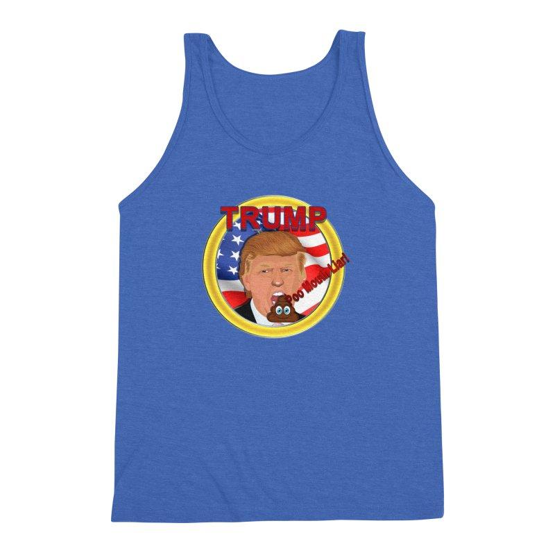 Trump a Poo Mouth Liar Men's Triblend Tank by ratherkool's Artist Shop