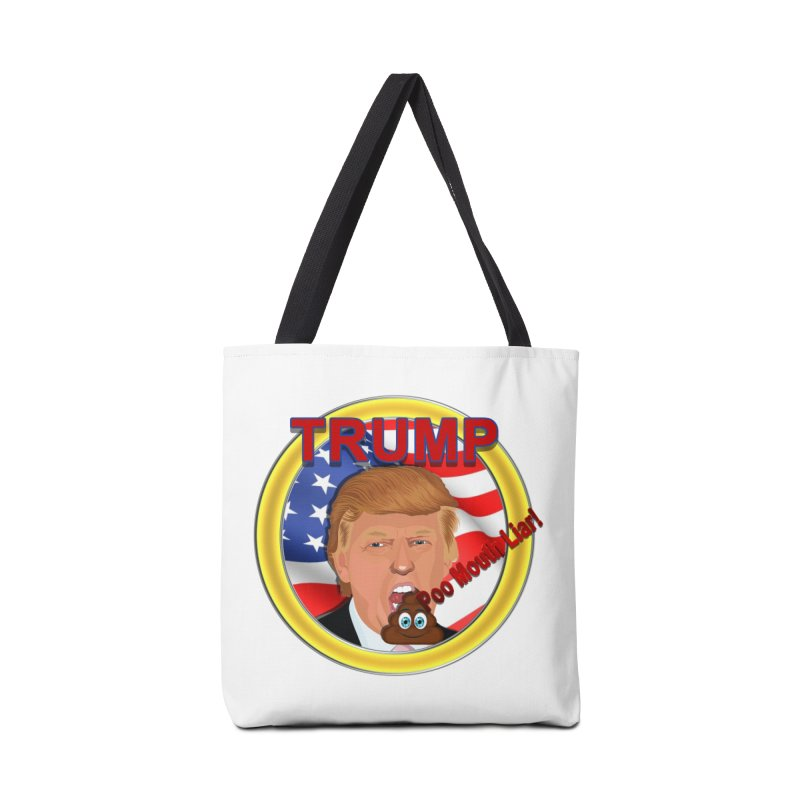 Trump a Poo Mouth Liar Accessories Bag by ratherkool's Artist Shop
