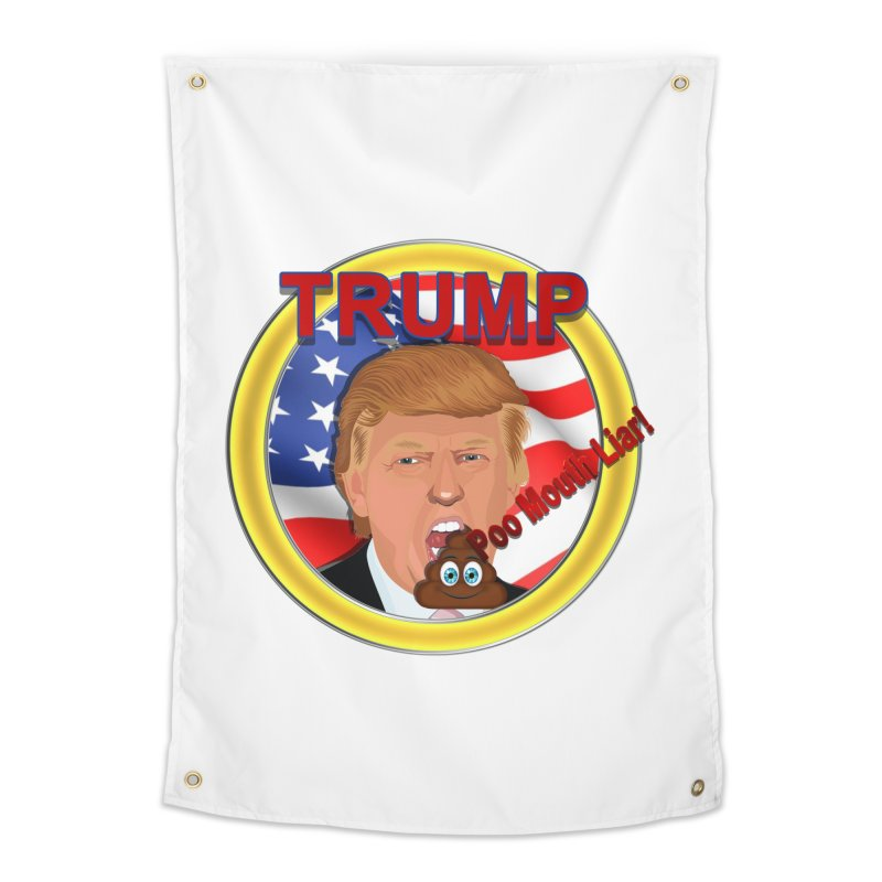 Trump a Poo Mouth Liar Home Tapestry by ratherkool's Artist Shop