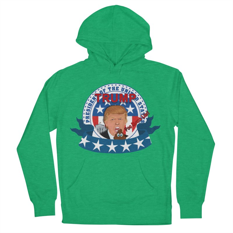 President Trump Poo Mouth Liar Men's Pullover Hoody by ratherkool's Artist Shop