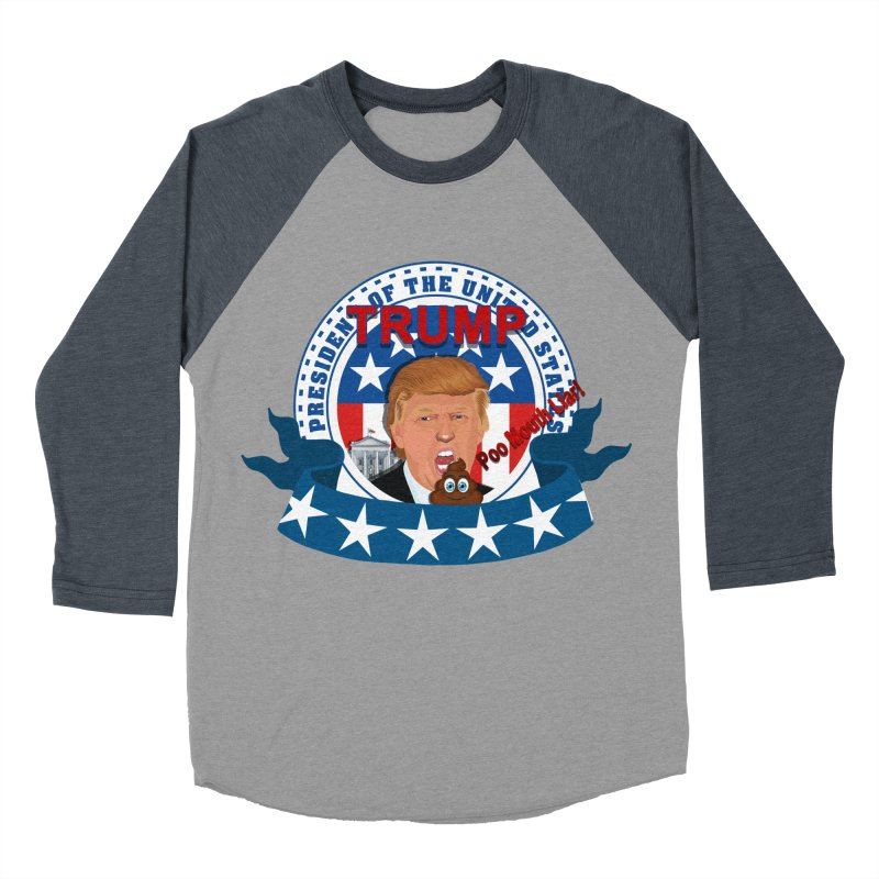 President Trump Poo Mouth Liar Men's Baseball Triblend T-Shirt by ratherkool's Artist Shop