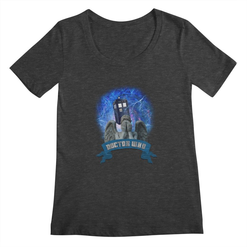 Doctor Who Return of the Weeping Angels Women's Scoopneck by ratherkool's Artist Shop