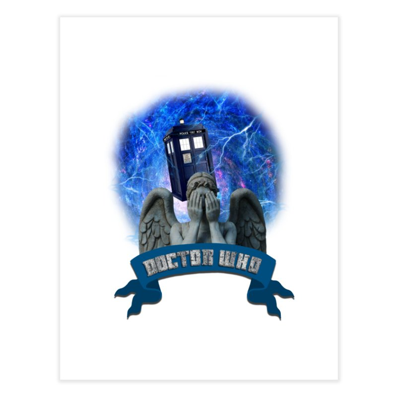 Doctor Who Return of the Weeping Angels Home Fine Art Print by ratherkool's Artist Shop