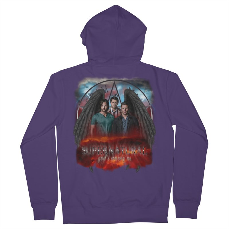Supernatural Gods Among Us Women's Zip-Up Hoody by ratherkool's Artist Shop