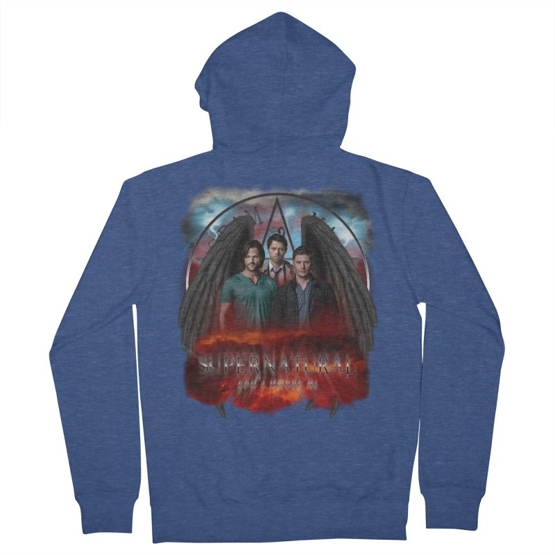 Supernatural Gods Among Us Men's Zip-Up Hoody by ratherkool's Artist Shop