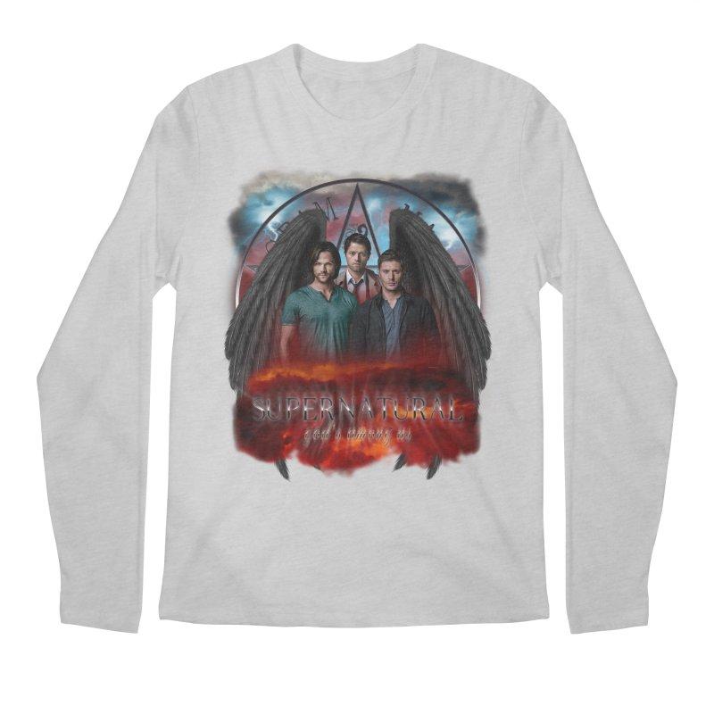 Supernatural Gods Among Us Men's Longsleeve T-Shirt by ratherkool's Artist Shop