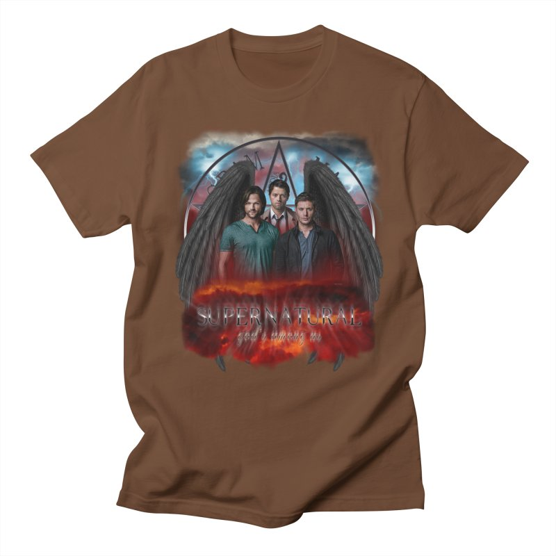 Supernatural Gods Among Us Men's T-shirt by ratherkool's Artist Shop