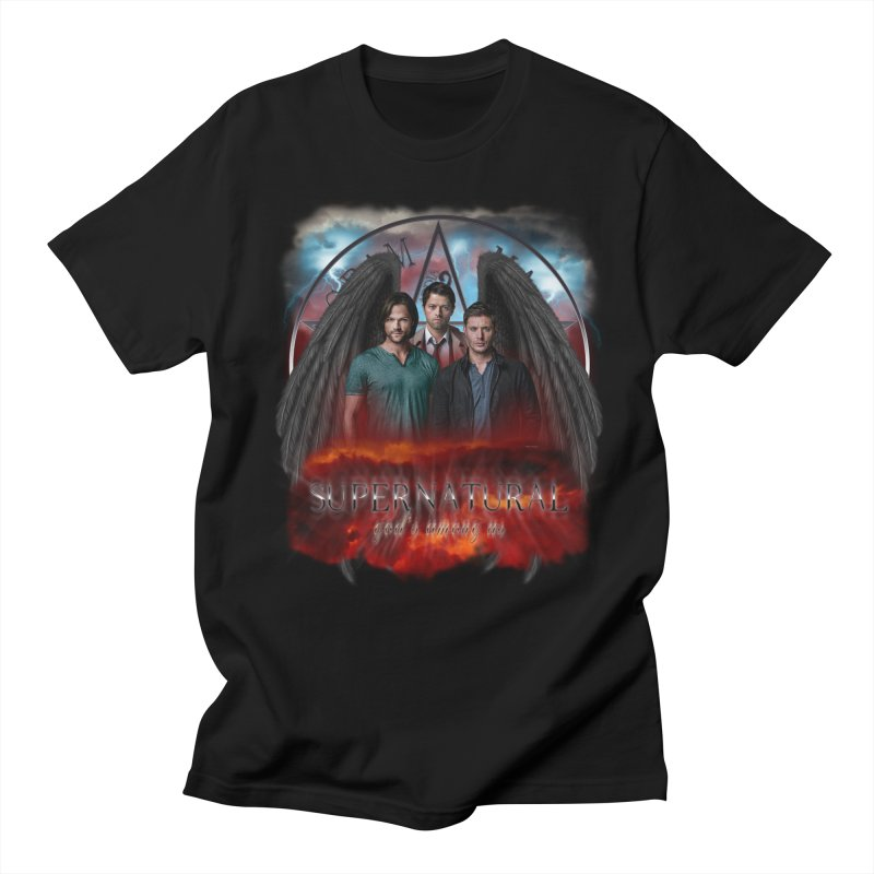 Supernatural Gods Among Us in Men's T-Shirt Black by ratherkool's Artist Shop