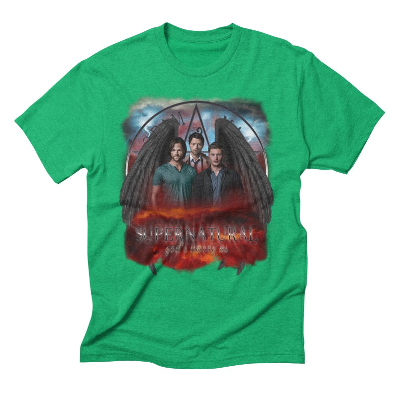 Supernatural Gods Among Us Men's Triblend T-shirt by ratherkool's Artist Shop