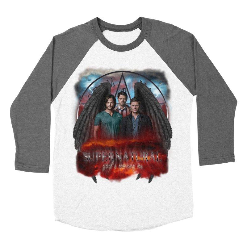 Supernatural Gods Among Us Women's Baseball Triblend T-Shirt by ratherkool's Artist Shop