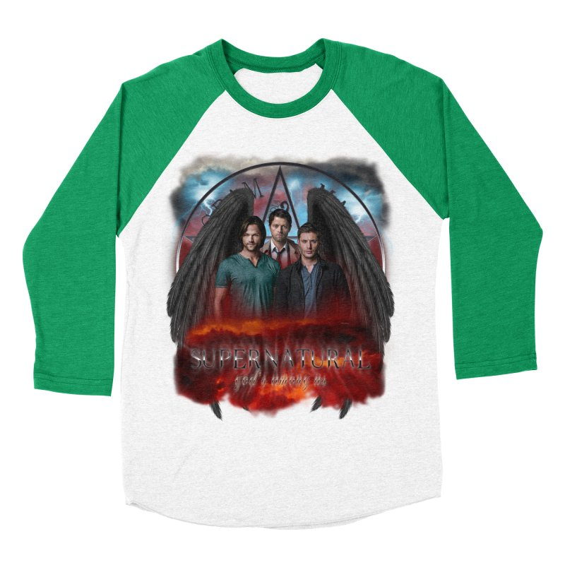 Supernatural Gods Among Us Men's Baseball Triblend T-Shirt by ratherkool's Artist Shop
