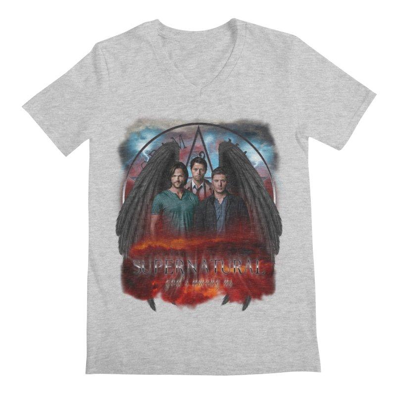 Supernatural Gods Among Us Men's V-Neck by ratherkool's Artist Shop