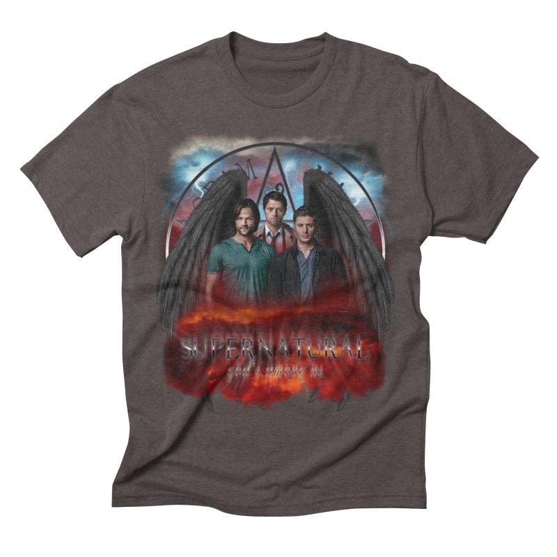 Supernatural Gods Among Us Men's Triblend T-shirt by ratherkool's Artist Shop