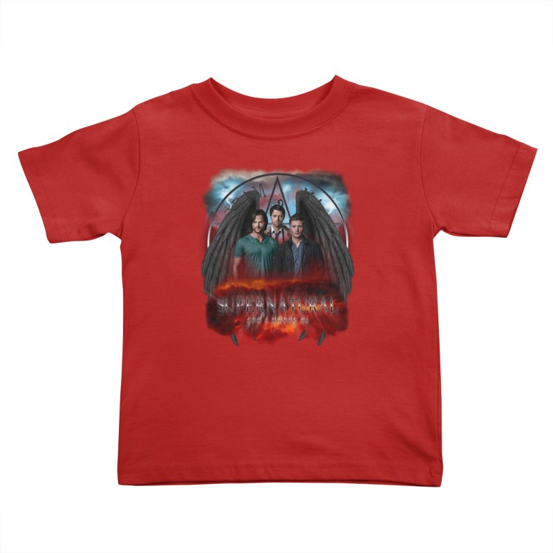 Supernatural Gods Among Us Kids Toddler T-Shirt by ratherkool's Artist Shop