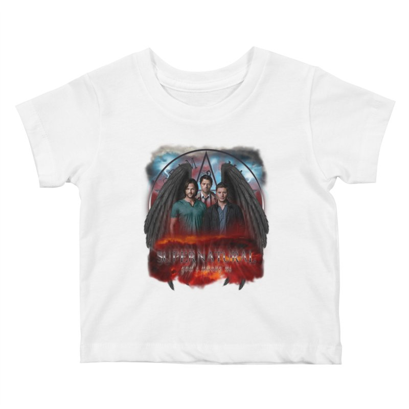 Supernatural Gods Among Us Kids Baby T-Shirt by ratherkool's Artist Shop