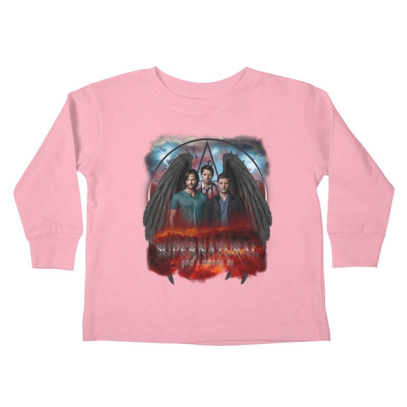 Supernatural Gods Among Us Kids Toddler Longsleeve T-Shirt by ratherkool's Artist Shop
