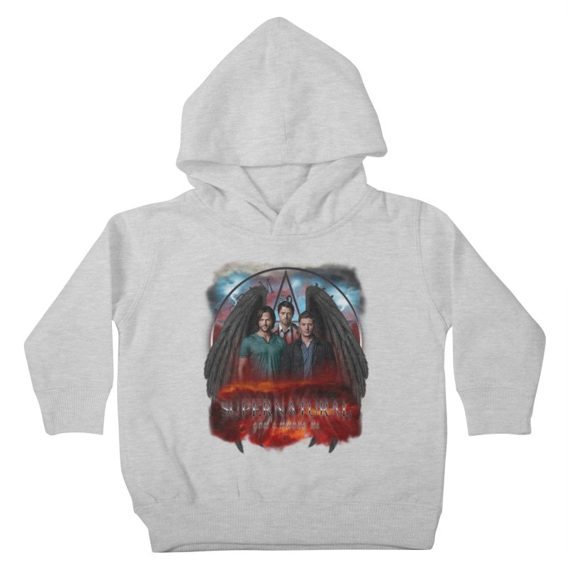 Supernatural Gods Among Us Kids Toddler Pullover Hoody by ratherkool's Artist Shop