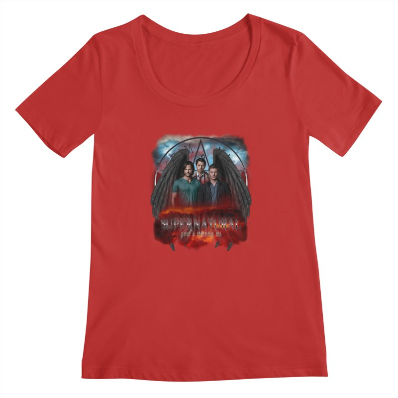 Supernatural Gods Among Us Women's Scoopneck by ratherkool's Artist Shop