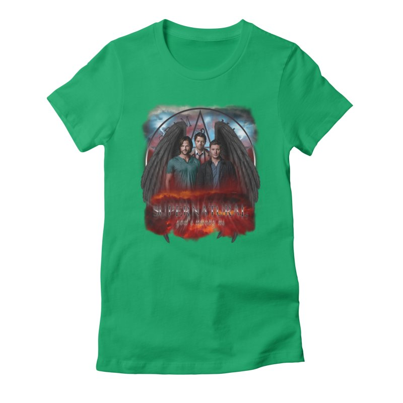 Supernatural Gods Among Us Women's Fitted T-Shirt by ratherkool's Artist Shop